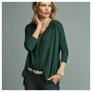 Cabi 3416 Hunter Green V Neck Chill Tee Tunic Top